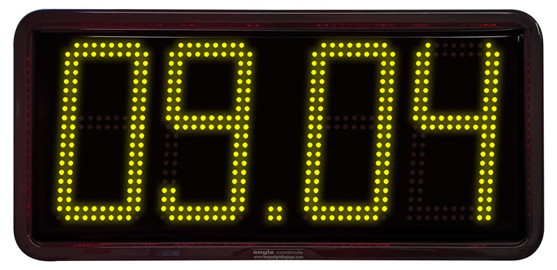 Large Digit Led Real Time Clocks Date Temperature