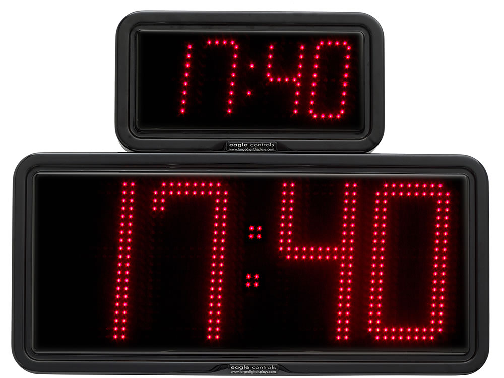 Examples large digital LED Time Clocks