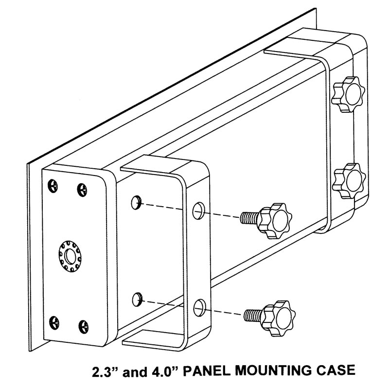Large Digit LED Panel Mounted Case Dimensions
