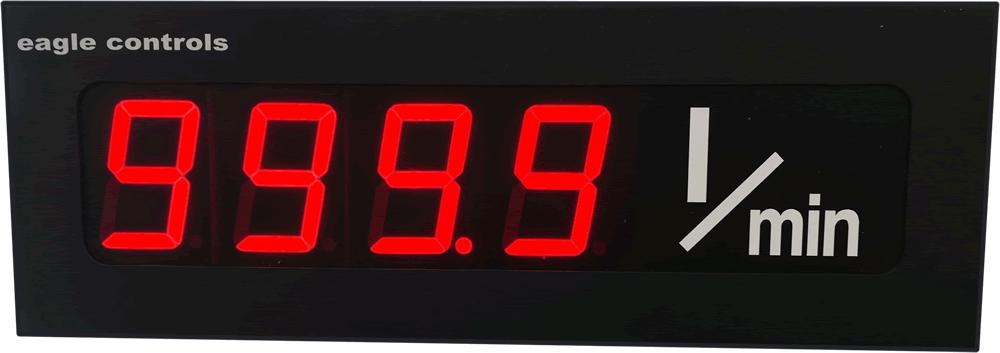 Large Digital A to D display legend litres per minute
