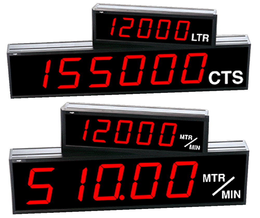 Example large digital counters and rate displays