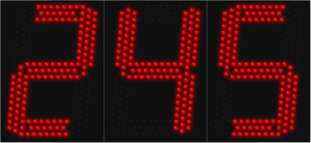 Large LED 3 Digit Display