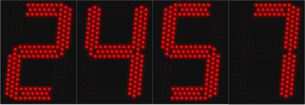 Large LED 4 Digit Display