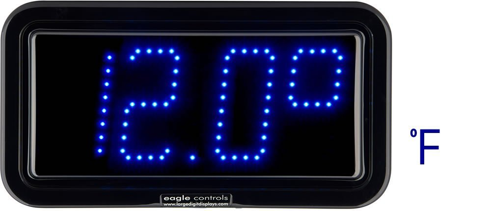 Example large digital LED Cold Store Temperature Displays F Scale