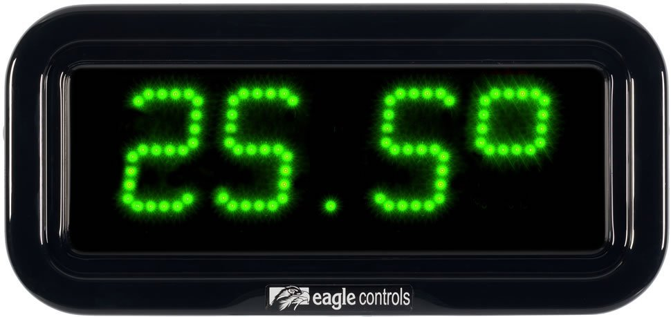 Commercial Temperature Display green