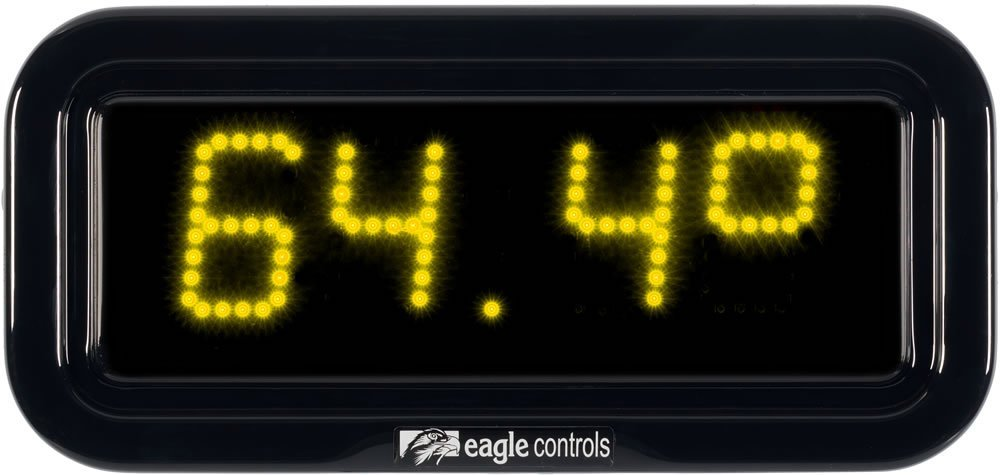 Commercial Temperature Display Yellow